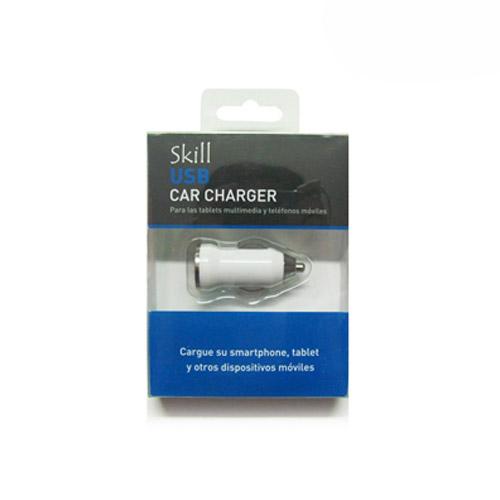 CARGADOR DE AUTO SKILL CAR ADAPTER USB, BLANCO