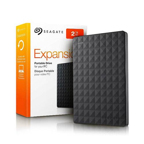 DISCO EXTERNO SEAGATE EXPANSION, 2TB, USB 3.0, NEGRO