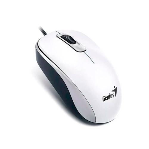 MOUSE GENIUS DX-110 USB ÓPTICO BLANCO