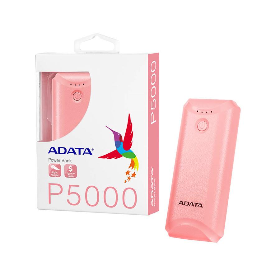 POWER BANK A-DATA P5000, 5000 MAH, ROSADO