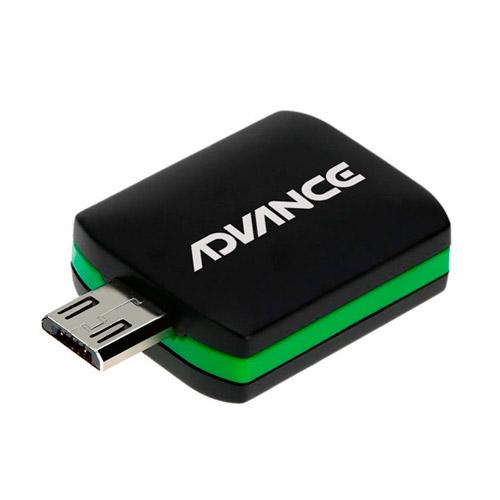RECEPTOR TV DIGITAL ADVANCE DG505 TV ISDB-T PARA ANDROID USB OTG, NEGRO