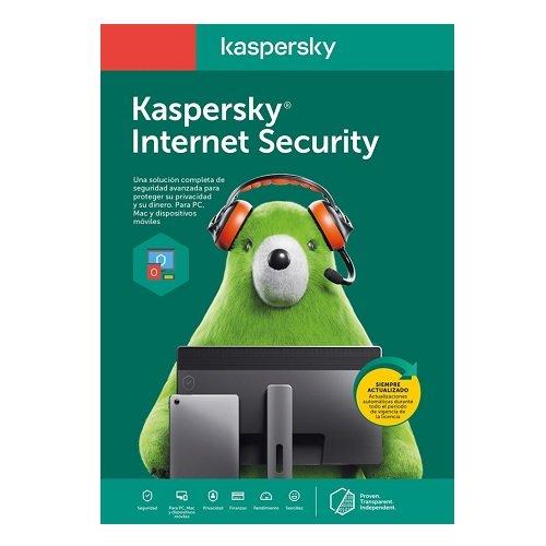 ANTIVIRUS KASPERSKY INTERNET SECURITY, LICENCIA 2 AñOS, PARA 3 DISPOSITIVOS