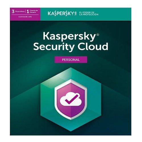 ANTIVIRUS KASPERSKY SECURITY CLOUD, LICENCIA 1 AñO, PARA 3 DISPOSITIVOS