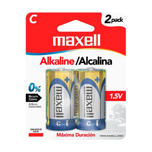 BATERIA ALCALINA MAXELL LR14-2BP 1.5V,TIPO C, 2PK