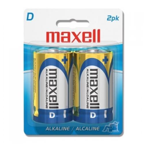 BATERIA ALCALINA MAXELL LR20-2BP 1.5V, TIPO D, 2PK