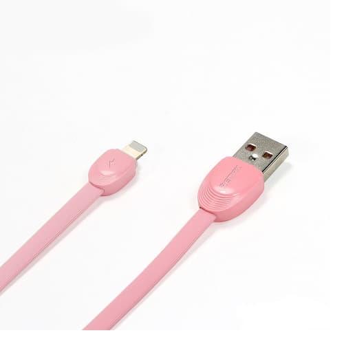 CABLE USB LIGHTNING REMAX RC-040I,2.1A, ROSADO