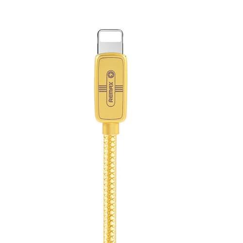 CABLE USB LIGHTNING REMAX RC-098I,2.1A, DORADO