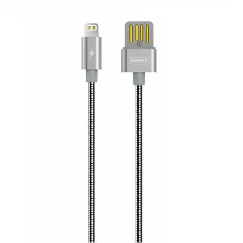 CABLE USB LIGHTNING REMAX RC080I, 2.1A, PLATEADO
