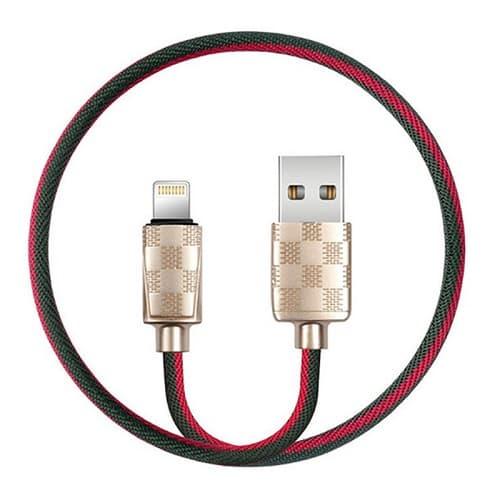 CABLE USB LIGHTNING XO NB34, 2.4A, DORADO