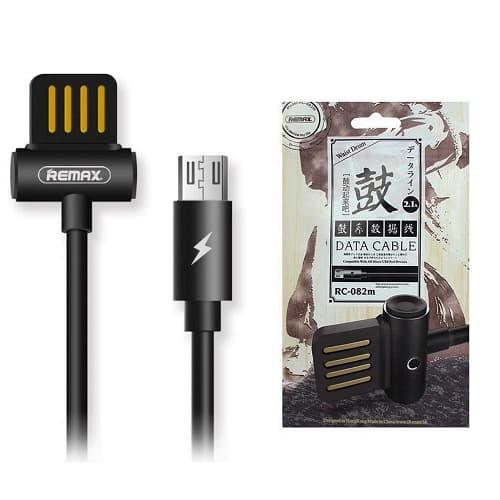 CABLE USB MICRO USB REMAX RC-082M, 2.1A, NEGRO