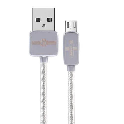 CABLE USB MICRO USB REMAX RC-098M, 2.1A,PLATEADO