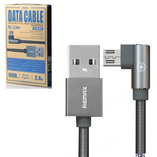 CABLE USB MICRO USB REMAX RC-119M, 2.4A,GRIS