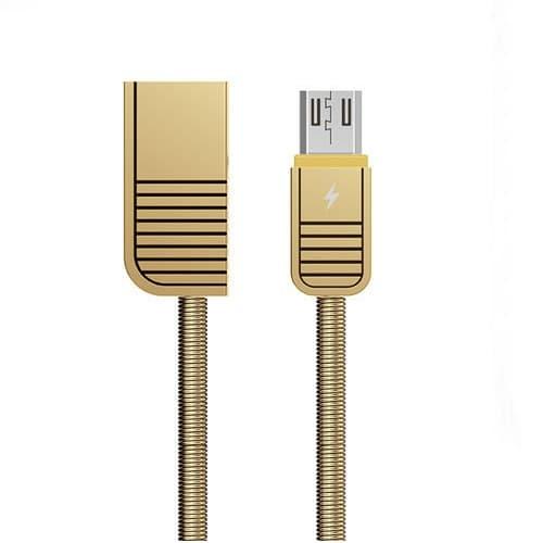 CABLE USB MICRO USB REMAX RC088M, 2.1A, DORADO