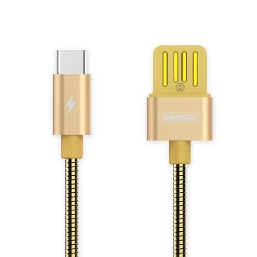 CABLE USB TIPO C REMAX RC080A, 2.1A, DORADO