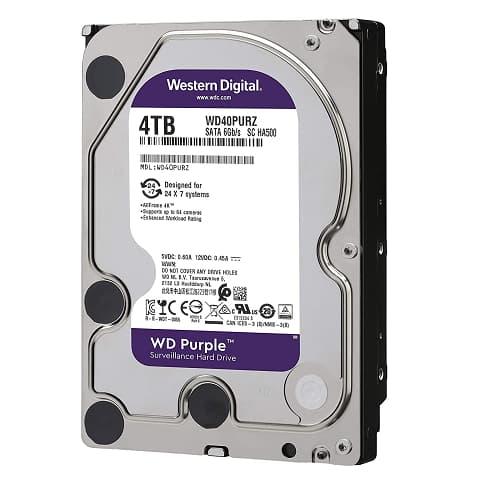 DISCO DURO WESTERN DIGITAL PURPLE SURVEILLANCE WD40PURZ, 4TB, SATA 6 GB/S, 3.5