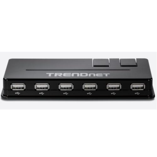 HUB USB TRENDNET TU2-H10, NEGRO