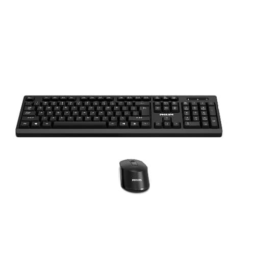 KIT TECLADO Y MOUSE INALàMBRICO PHILIPS SPT6354, NEGRO