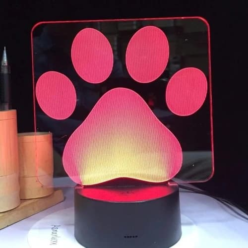 LAMPARA DOG LOVER MOD13, RGB, USB