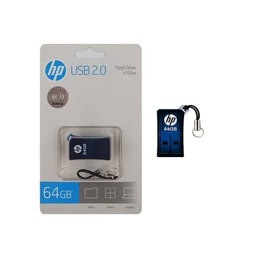 MEMORIA USB FLASH DRIVE HP V165W, 64 GB, AZUL