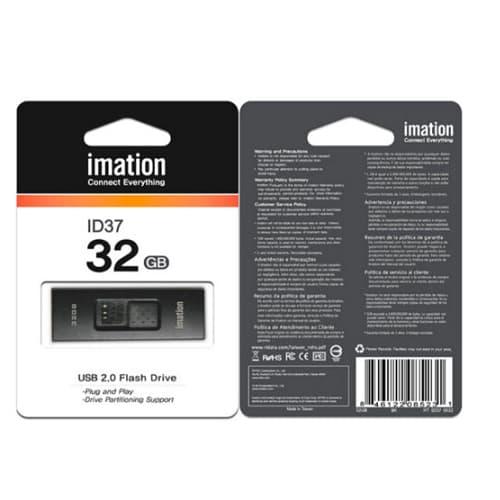 MEMORIA USB IMATION ID37,32GB, NEGRO
