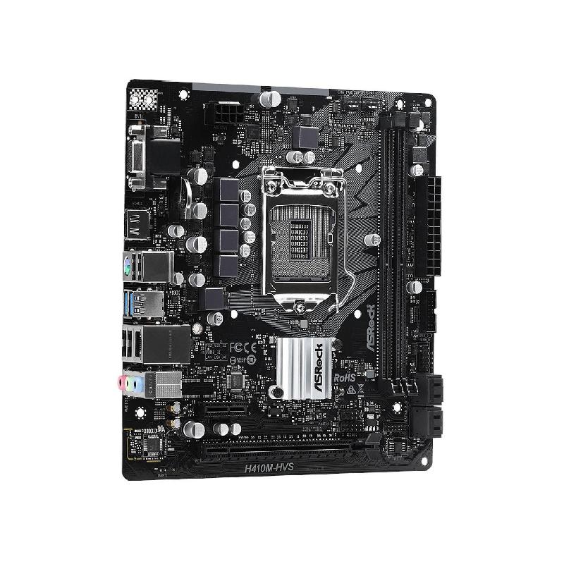 MOTHERBOARD ASROCK H410M-HVS, 10GEN, 64GB, DDR4, 2933MHZ