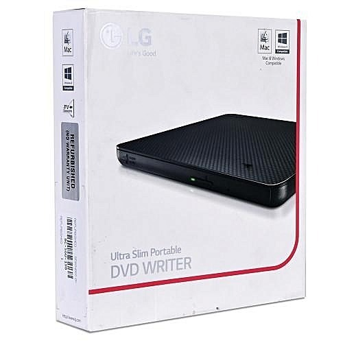 MULTIGRABADOR PORTABLE DVD WRITER LG GP65NB60, 8X, USB, NEGRO