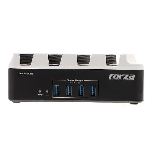 SUPRESOR DE PICOS FORZA FSP-4412USB, 1300W, PUERTOS USB, TOMAS UNIVERSALES