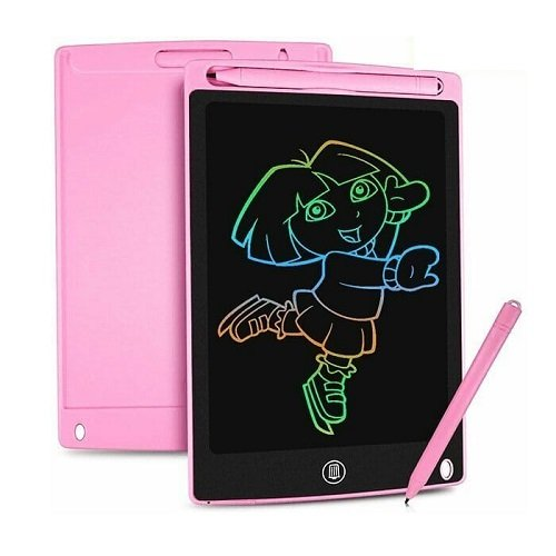 """TABLET LCD PIZARRA, 8.5"""", ROSADO/CELESTE"""